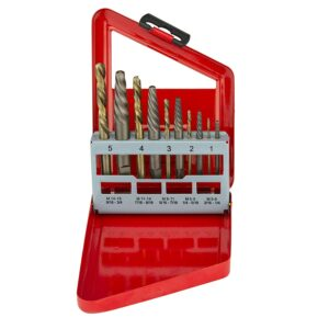 10 PC SCREW EXTRACTOR & COBALT COMPANION DRILL BIT SETS