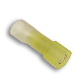ACT YELLOW HEAT SHRINK TERMINAL, FULLY INSULATED MALE
