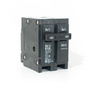Eaton / Cutler Hammer BR2100 Circuit Breaker; 100 Amp, 120/240 Volt AC, 2-Pole