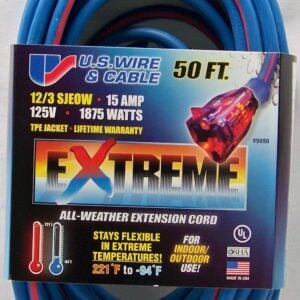 U.S. WIRE LIGHTED END FRIGID FLEX EXTENSION CORDS