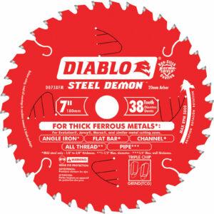 Freud Diablo 7-1/4 x 38 Tooth TCG Ferrous Cutting Blade