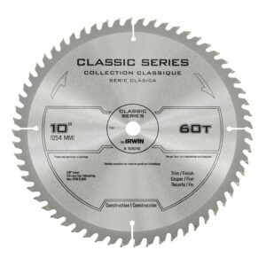 """IRWIN CLASSIC 10"""" 60 TOOTH CARBIDE TIPPED SAW BLADE"""