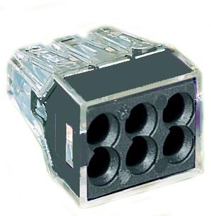 BLACK WAGO PUSH WIRE CONNECTORS